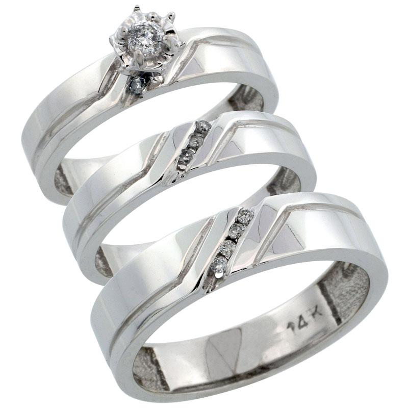 Wedding & Engagement Sets$$$14k White Gold Diamond Jewelry