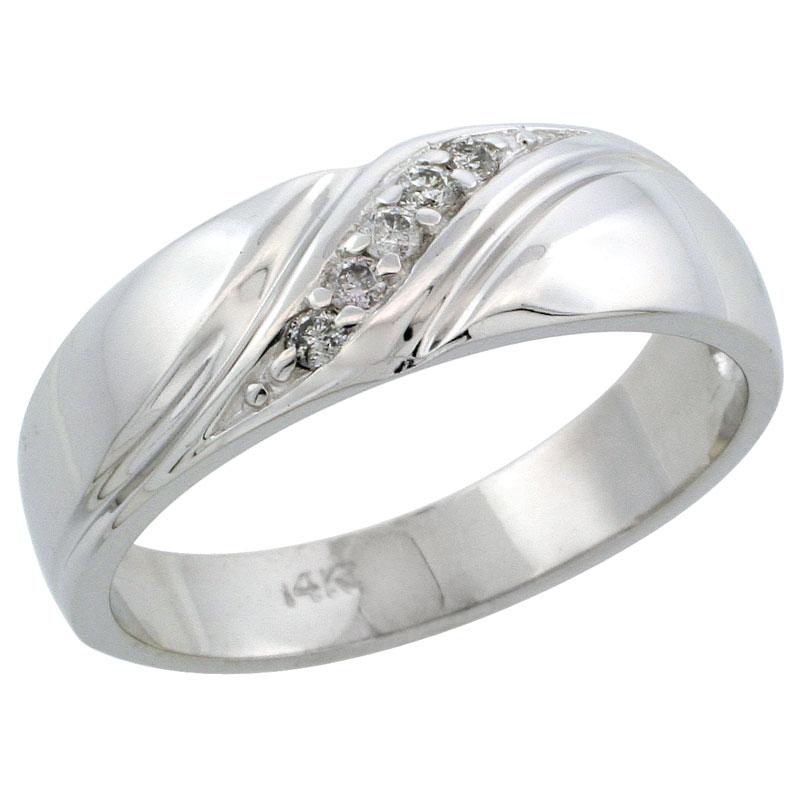 Rings for Men$$$14k White Gold Diamond Jewelry