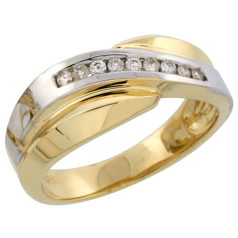 Rings for Men$$$14k Yellow Gold Diamond Jewelry