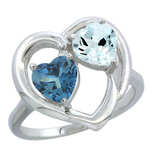 2-Stone Rings$$$14k White Gold Diamond Jewelry
