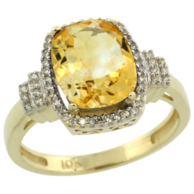 10K Yellow Gold Diamond Jewelry