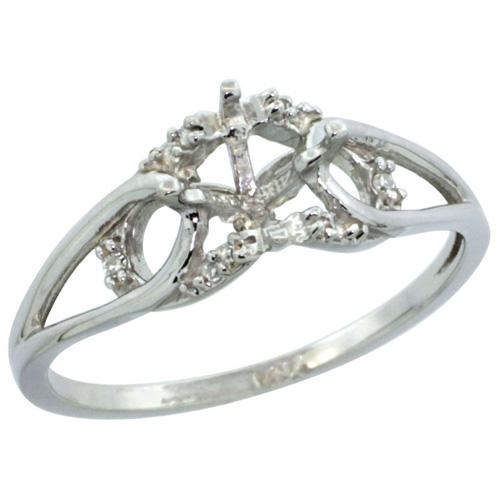 Semi-Mount Rings$$$14k White Gold Diamond Jewelry