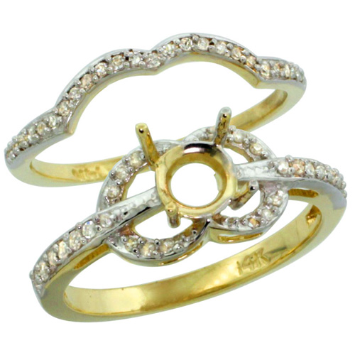 Semi-Mount Rings$$$14k Yellow Gold Diamond Jewelry