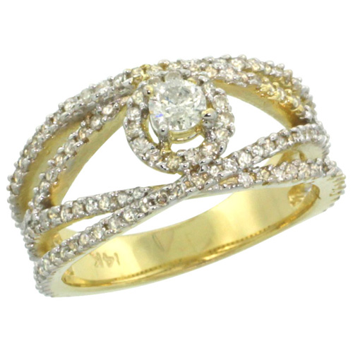 Rings for Women$$$14k Yellow Gold Diamond Jewelry