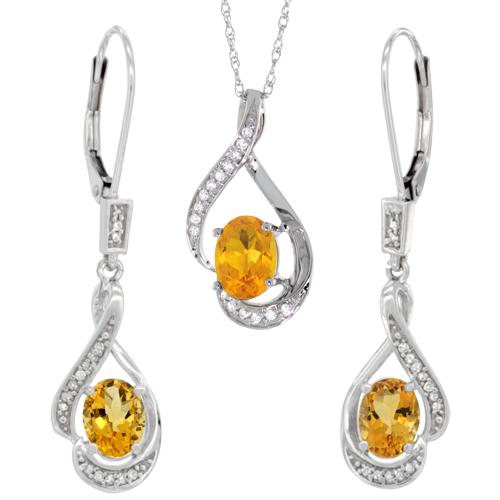 Jewelry Sets$$$14k White Gold Diamond Jewelry