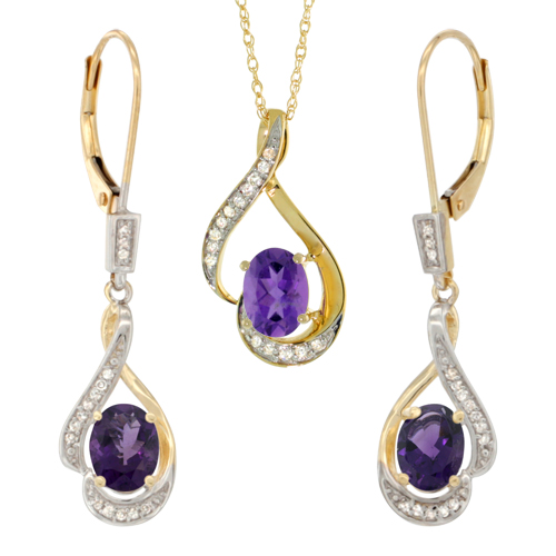 Jewelry Sets$$$14k Yellow Gold Diamond Jewelry