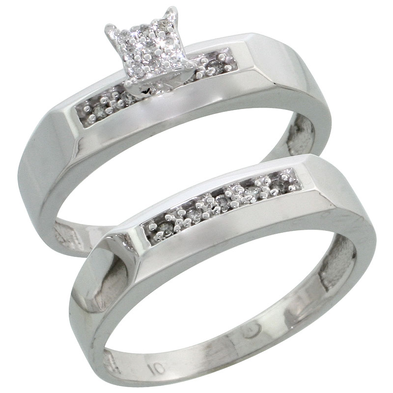 Wedding & Engagement Sets$$$10k White Gold Diamond Jewelry