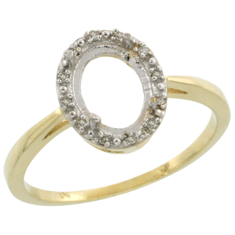 Semi-Mount Rings$$$10k Yellow Gold Diamond Jewelry