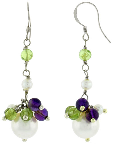 Pearl & Colored Earrings