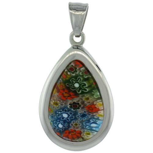 Pendants with Murano Inlay