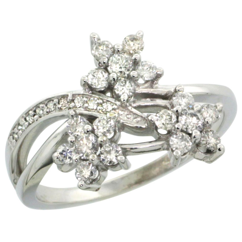 14K White Gold Diamond Jewelry