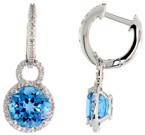 Earrings$$$14k White Gold Diamond Jewelry