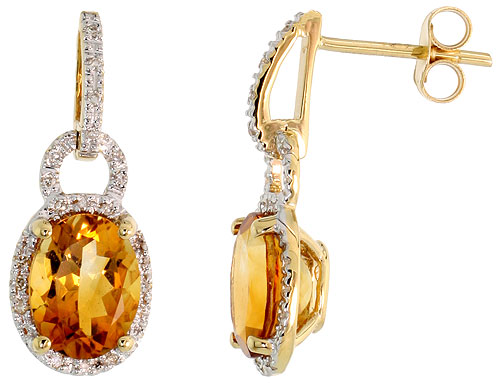 Earrings$$$14k Yellow Gold Diamond Jewelry