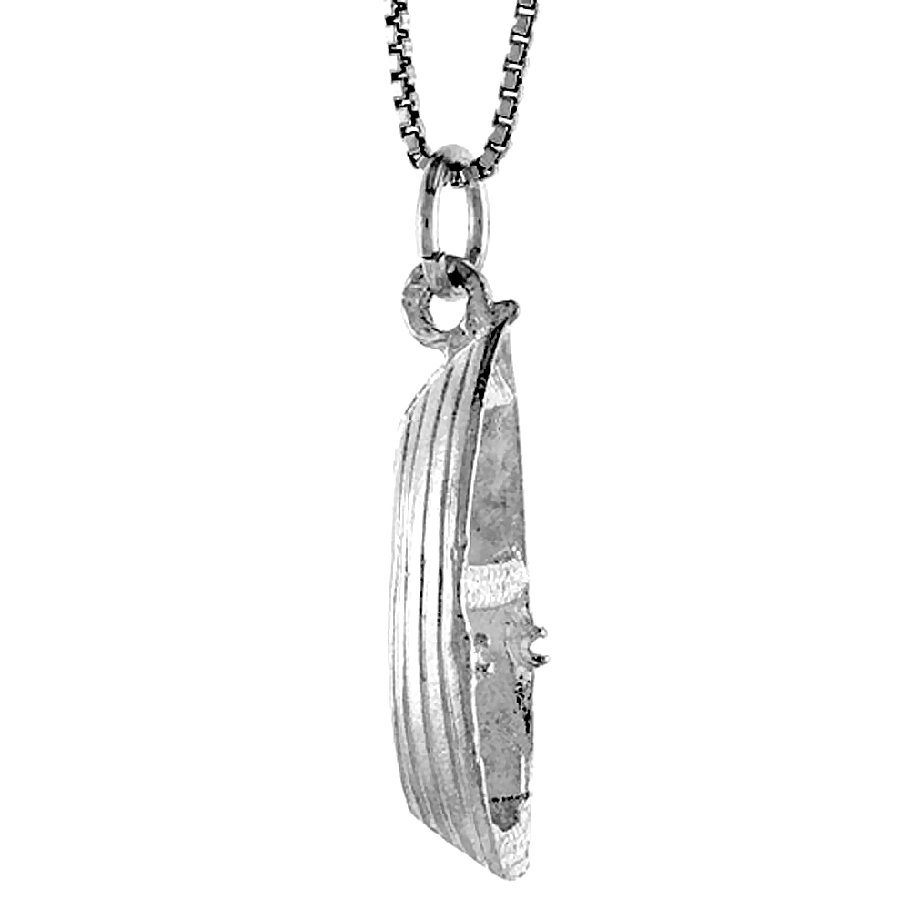 Sterling Silver Boat Pendant, 1 inch
