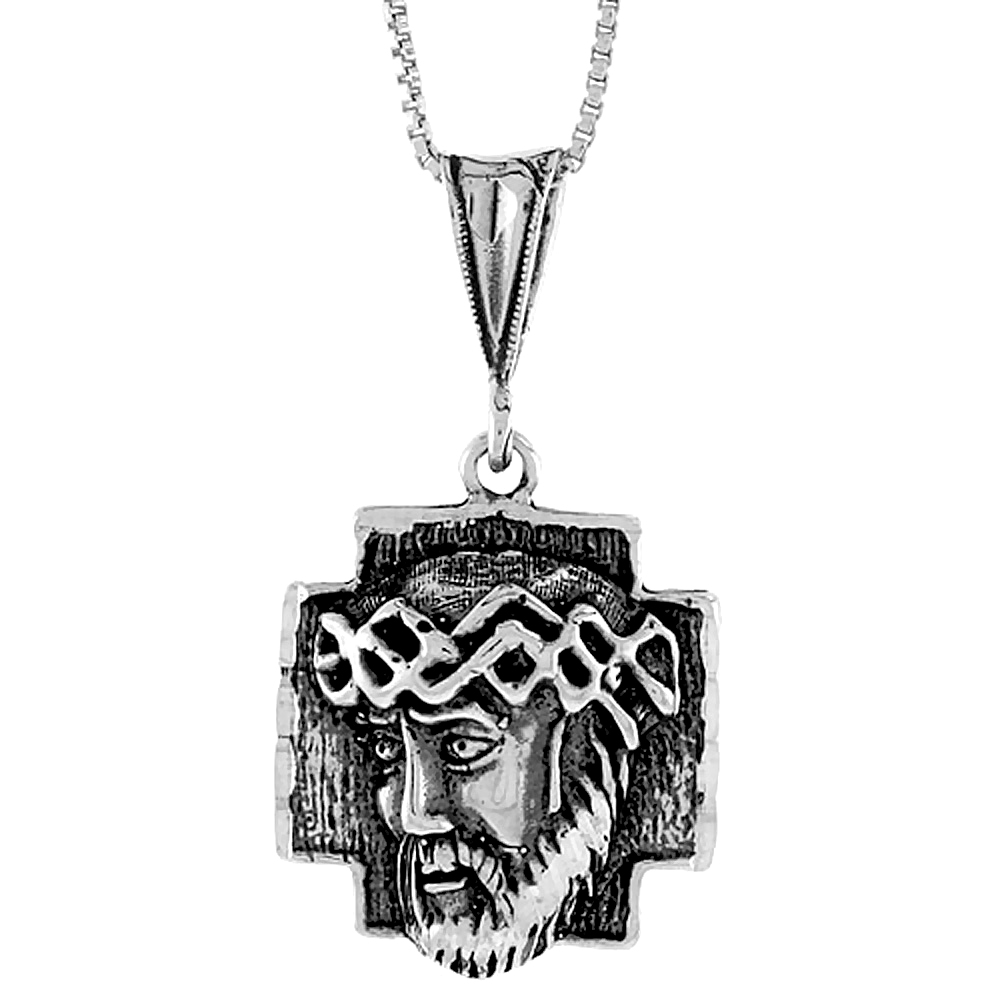 Sterling Silver Body of Christ Pendant, 7/8 inch