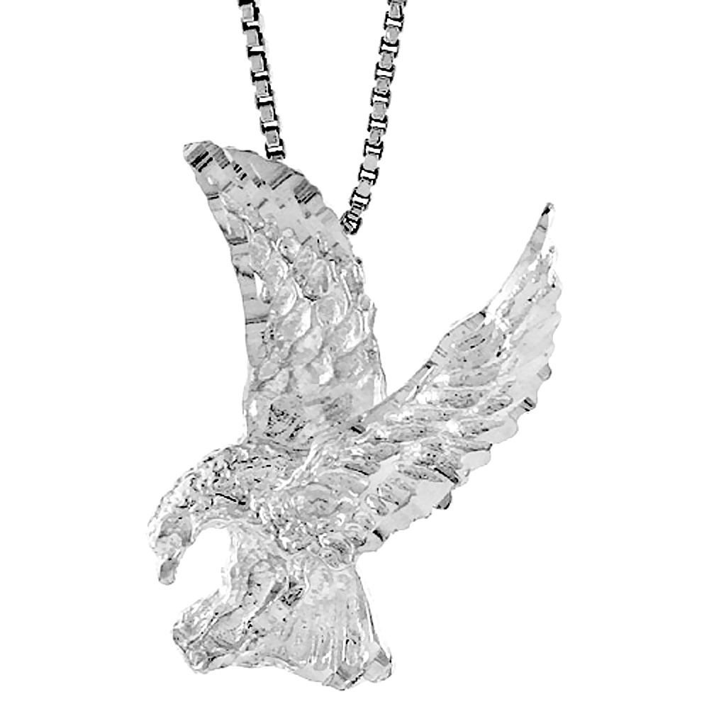 Sterling Silver Eagle Pendant, 1 inch tall