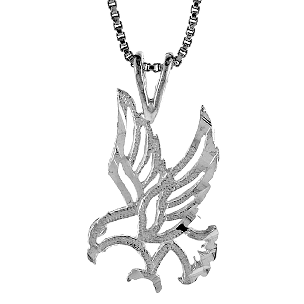 Slide pendants sterling silver eagle pendant 34 inch mozeypictures Gallery