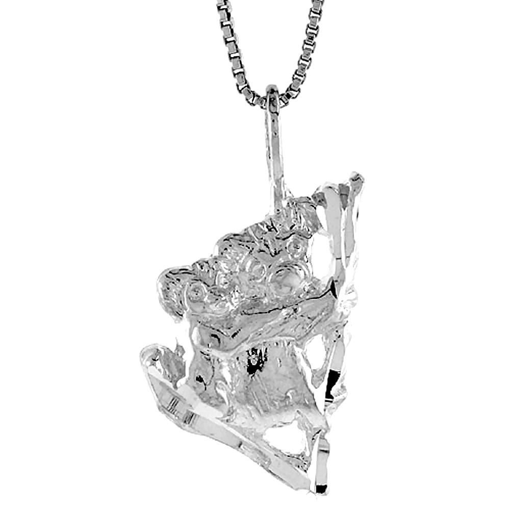 Sterling Silver Koala Bear Pendant, 7/8 inch