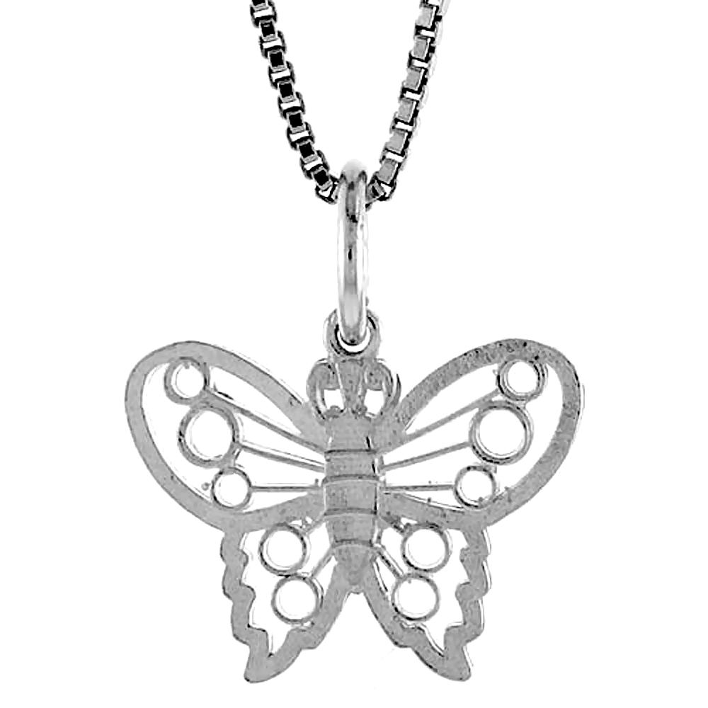 Sterling Silver Small Butterfly Pendant1/2 inch ,