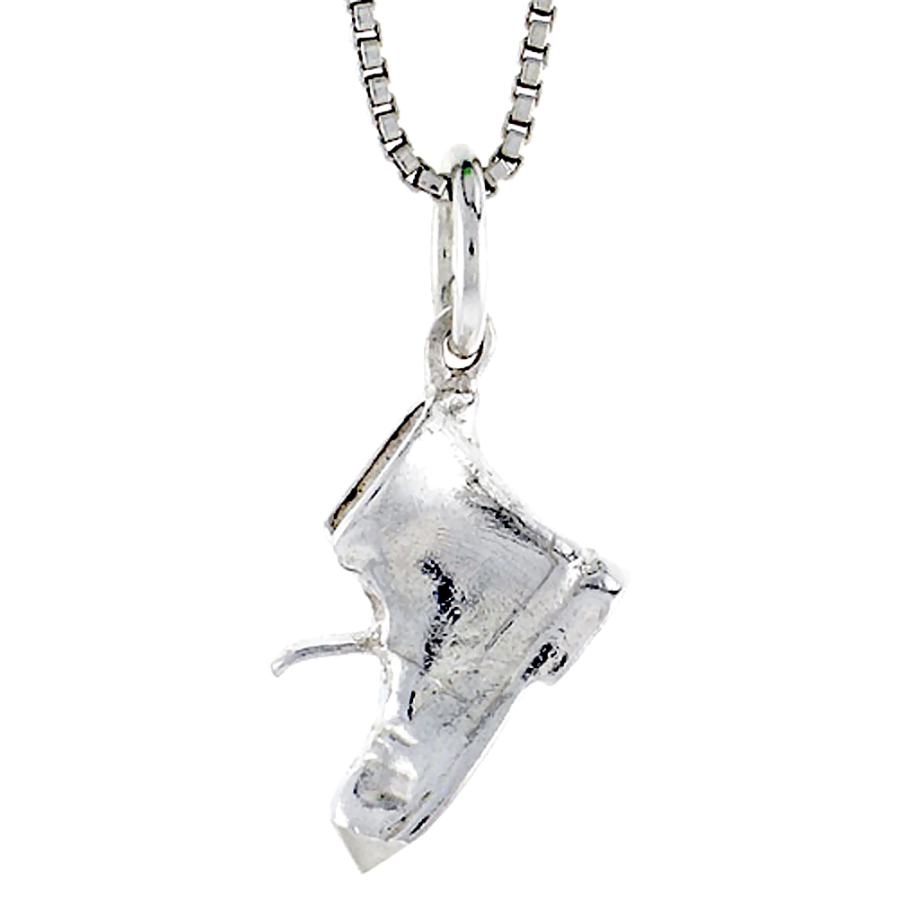 Sterling Silver Old Boot Pendant, 3/8 inch Tall