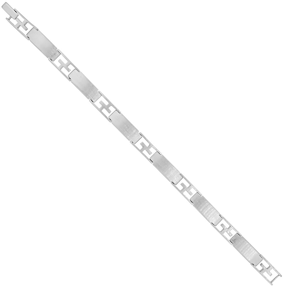Sterling Silver Lattice Bar Link Bracelet 5/16 inch wide, 7.5, 8 & 8.5 inches long
