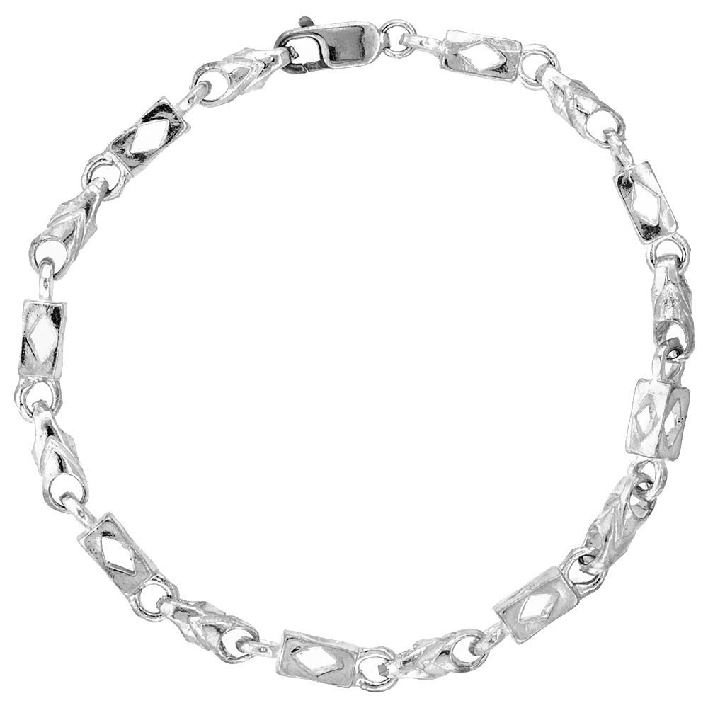 Sterling Silver Bullet Chain (Available in Different Lengths), 7/32 in. (5.5 mm) wide