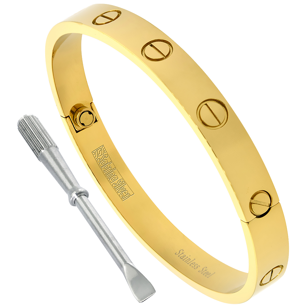 juste nail gold un bracelet clou image bangle cartier ideas head contemporary charming