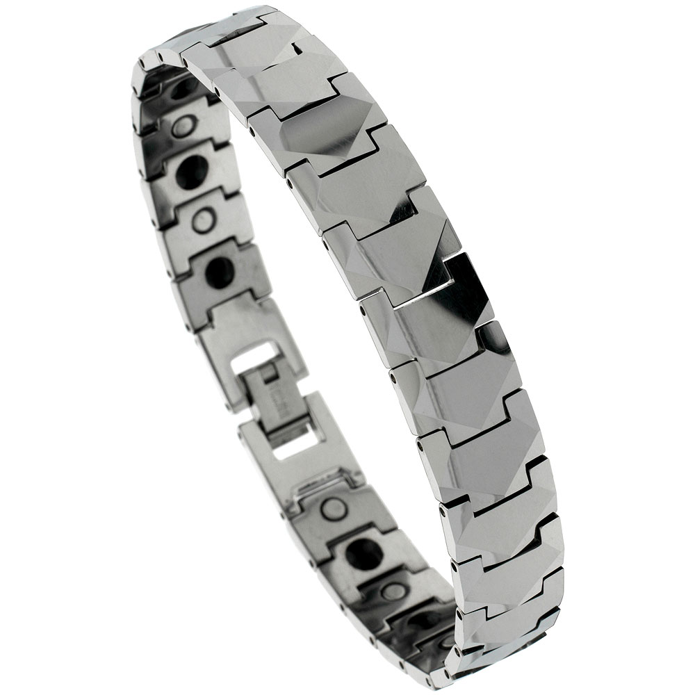 bracelets carbide en inlay bracelet men carbon s fiber tungsten magnetic