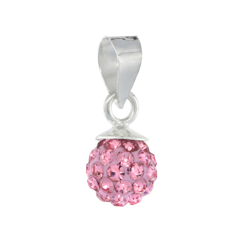 Sterling Silver Alexandrite Crystal Ball Pendants 6mm