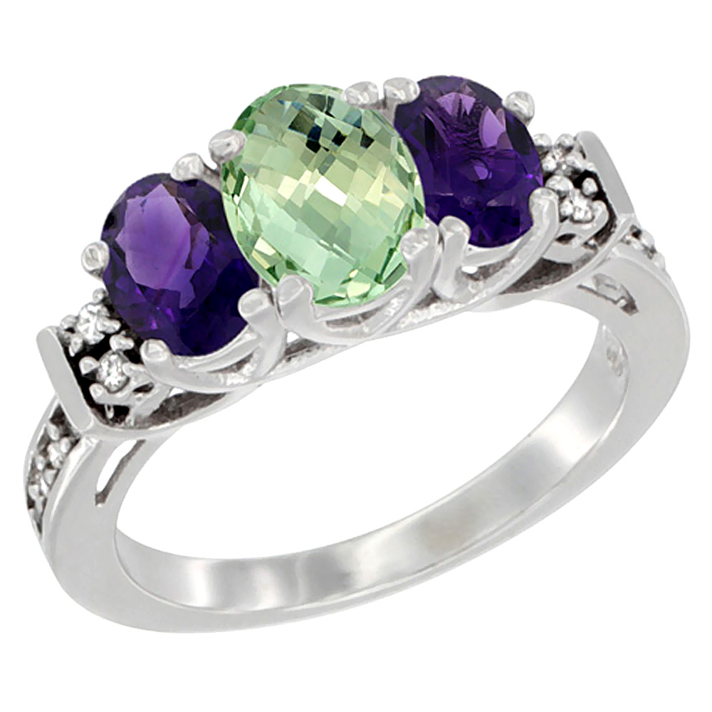 oval amethysts home amethyst sabrinasilver white diamond wedding gold accent shopcart ring natural impl green rings stone purple