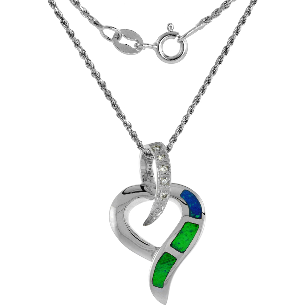 Sterling Silver Synthetic Opal Everlasting Cross Necklace for Women 1 1//16 inch w// 1mm Rope Chain