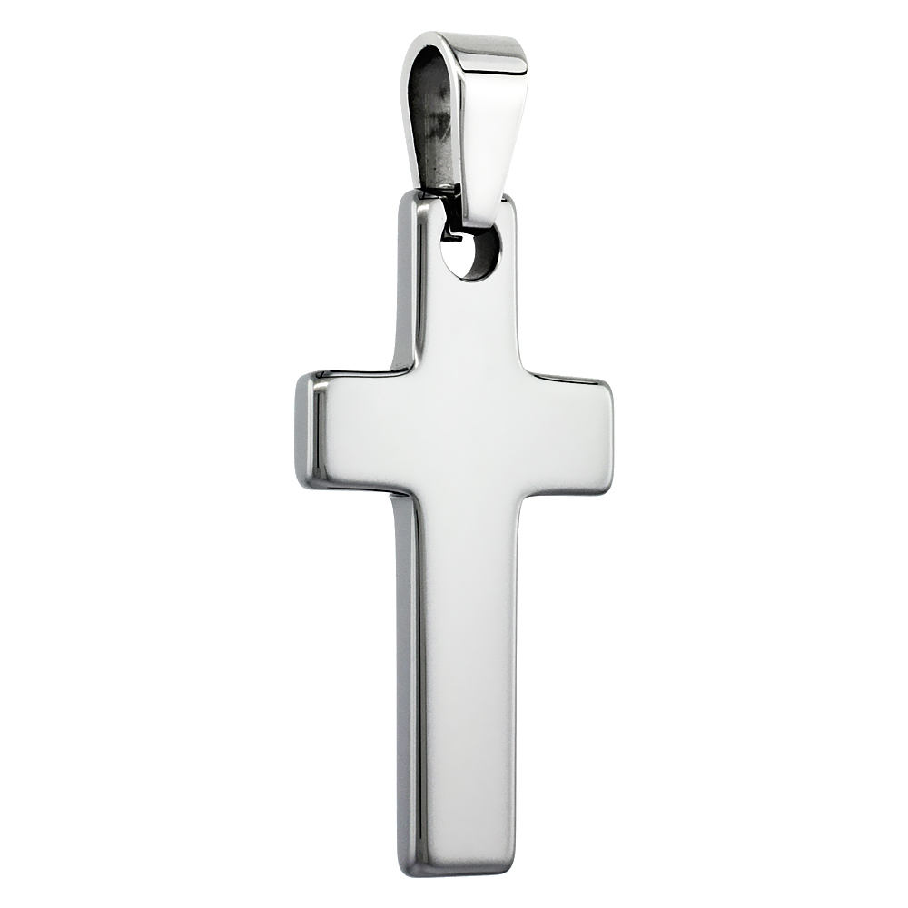 Tungsten Carbide High Polished Cross, 1 5/8 inch long