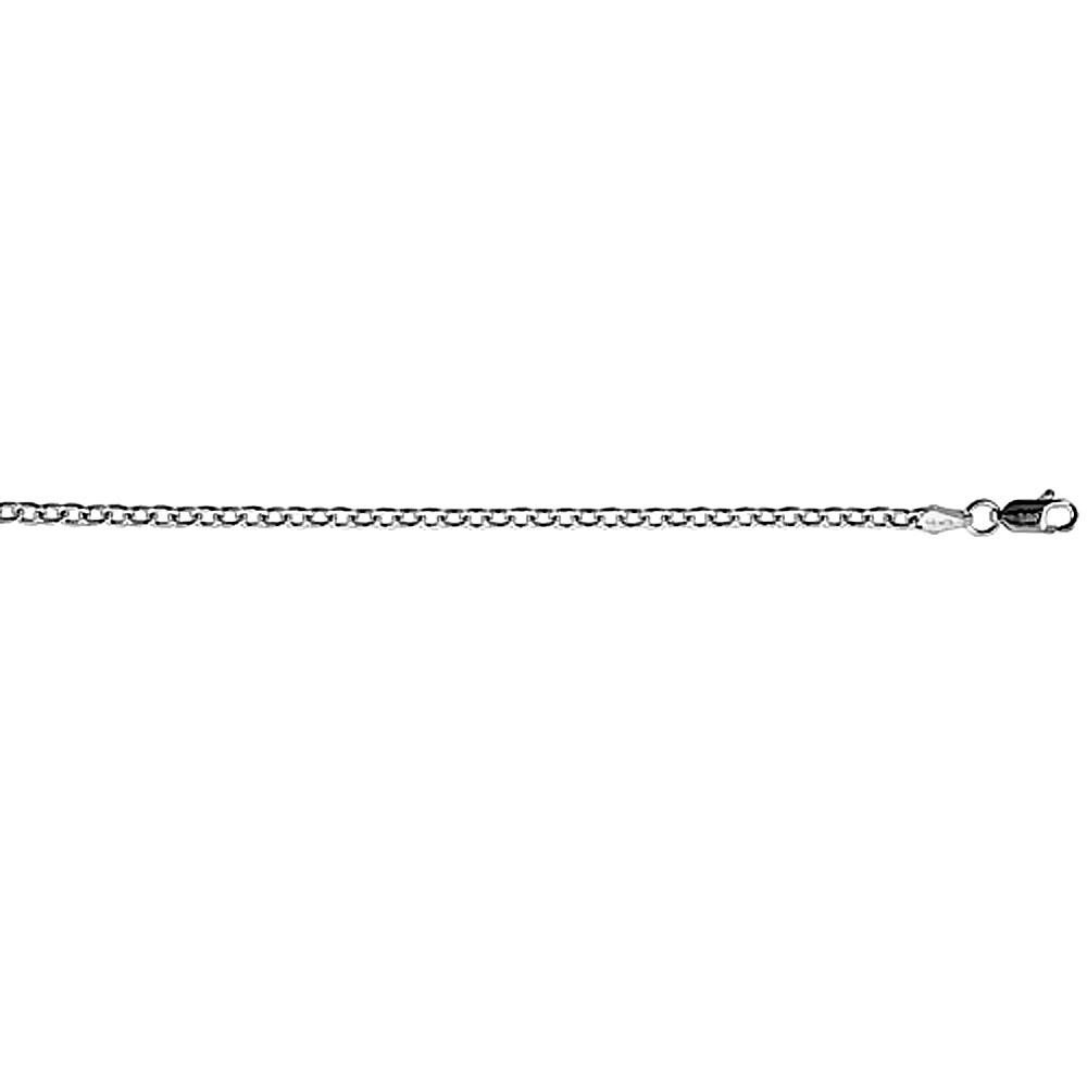 Sterling Silver Cable Link Chain Necklaces & Bracelets 2.8mm Nickel Free Italy, sizes 7 - 30 inches