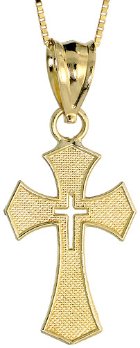 10k Gold Maltese Cross Necklace 3/4 high, 18 inch