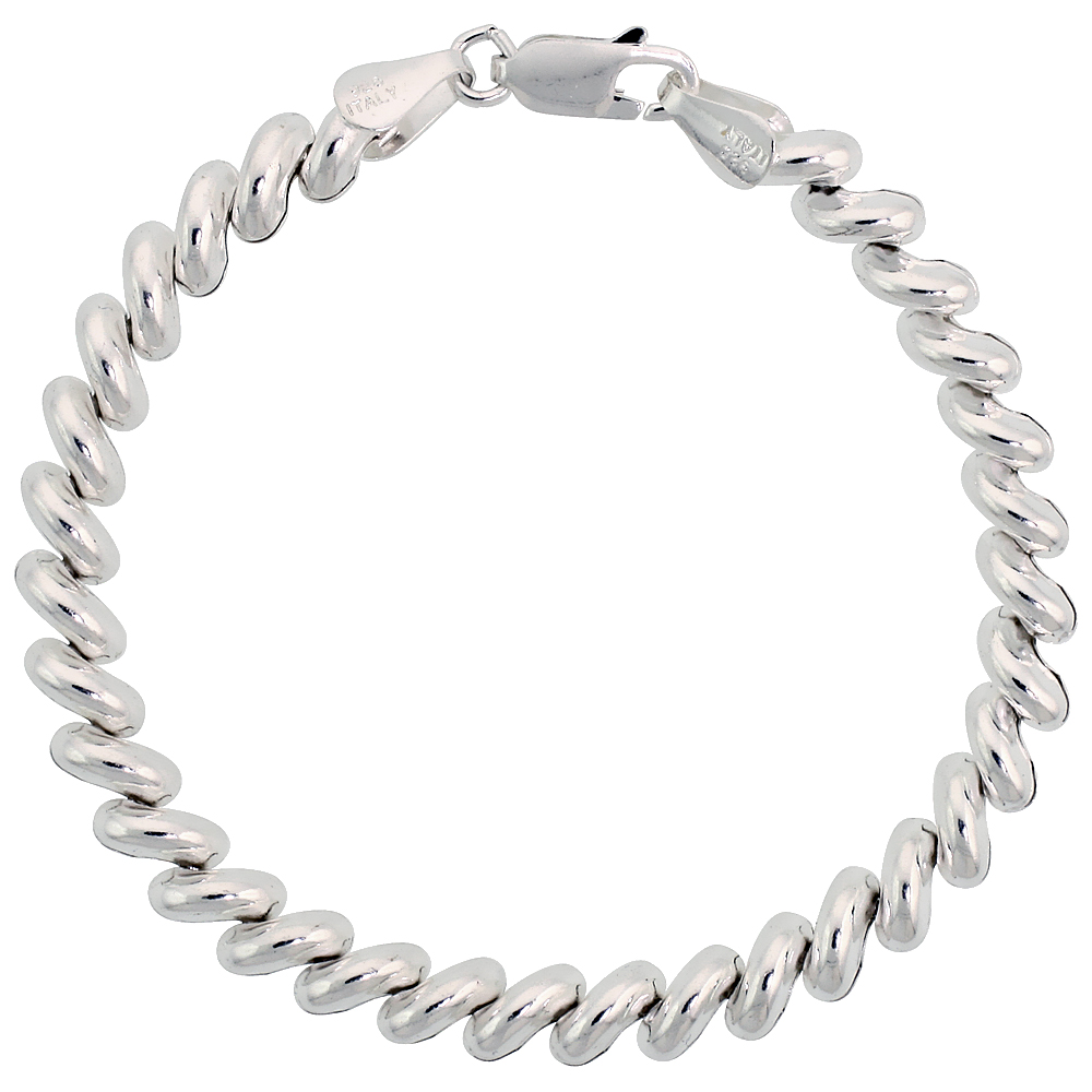 Sterling Silver Baby San Marco Bracelets and Necklaces Italian 1/4 inch