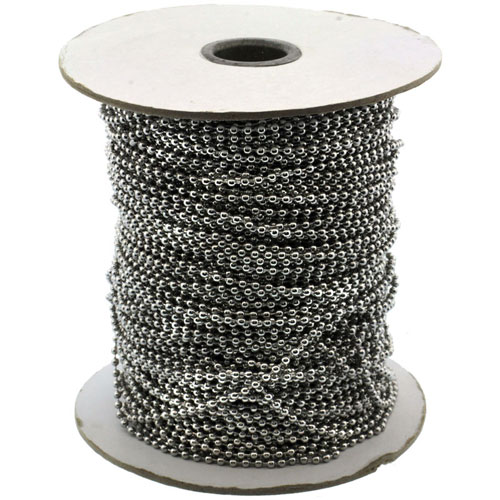 Surgical Steel Bead Ball Chain 2.5 mm 100 Yard Spool