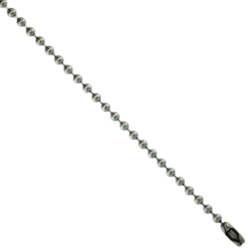 Surgical Steel Bead Ball Chain 2.5 mm By the Yard