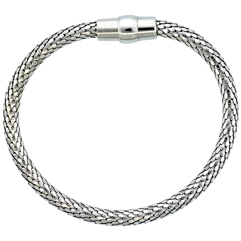 magnetic wire allsssilver therapy stainless bracelet all steel cable anklet