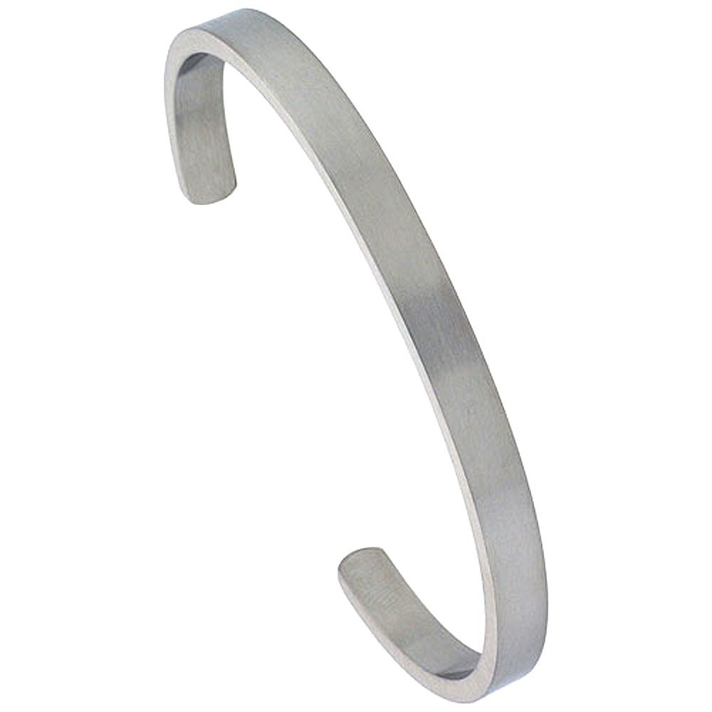 Stainless Steel Cuff Bracelet For Men and Women 1/4 inch
