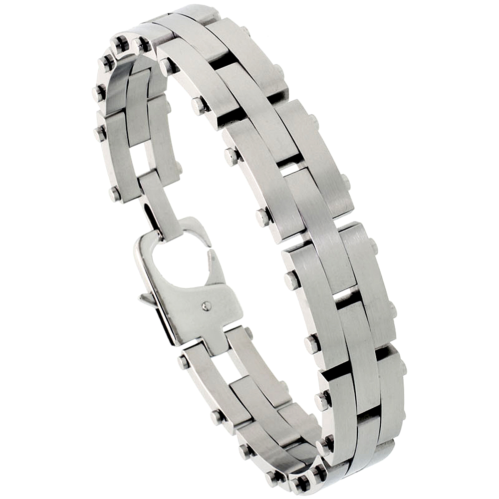 Stainless Steel Pantera Bracelet For Men 1/2 inch wide, 8 inch long,