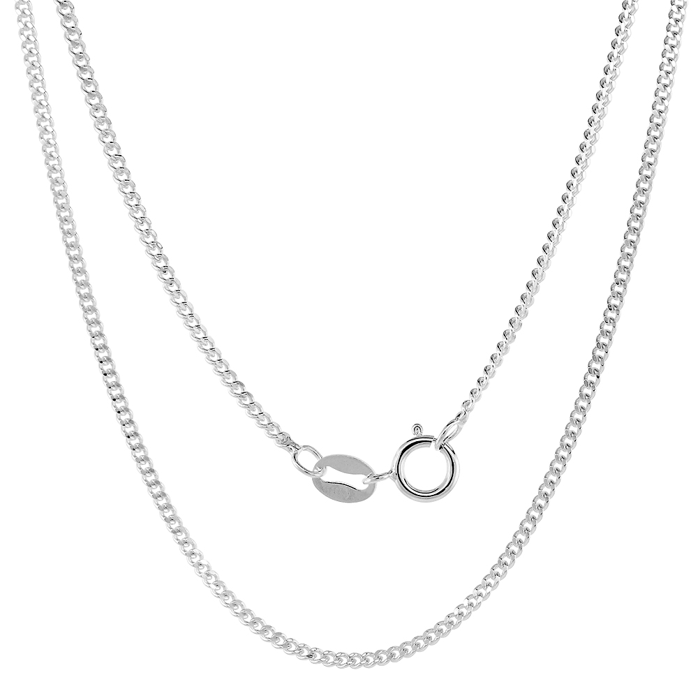 Very Fine Sterling Silver 1-4mm Curb Link Chain Anklets for Women Nickel Free Italy 9-10 inch