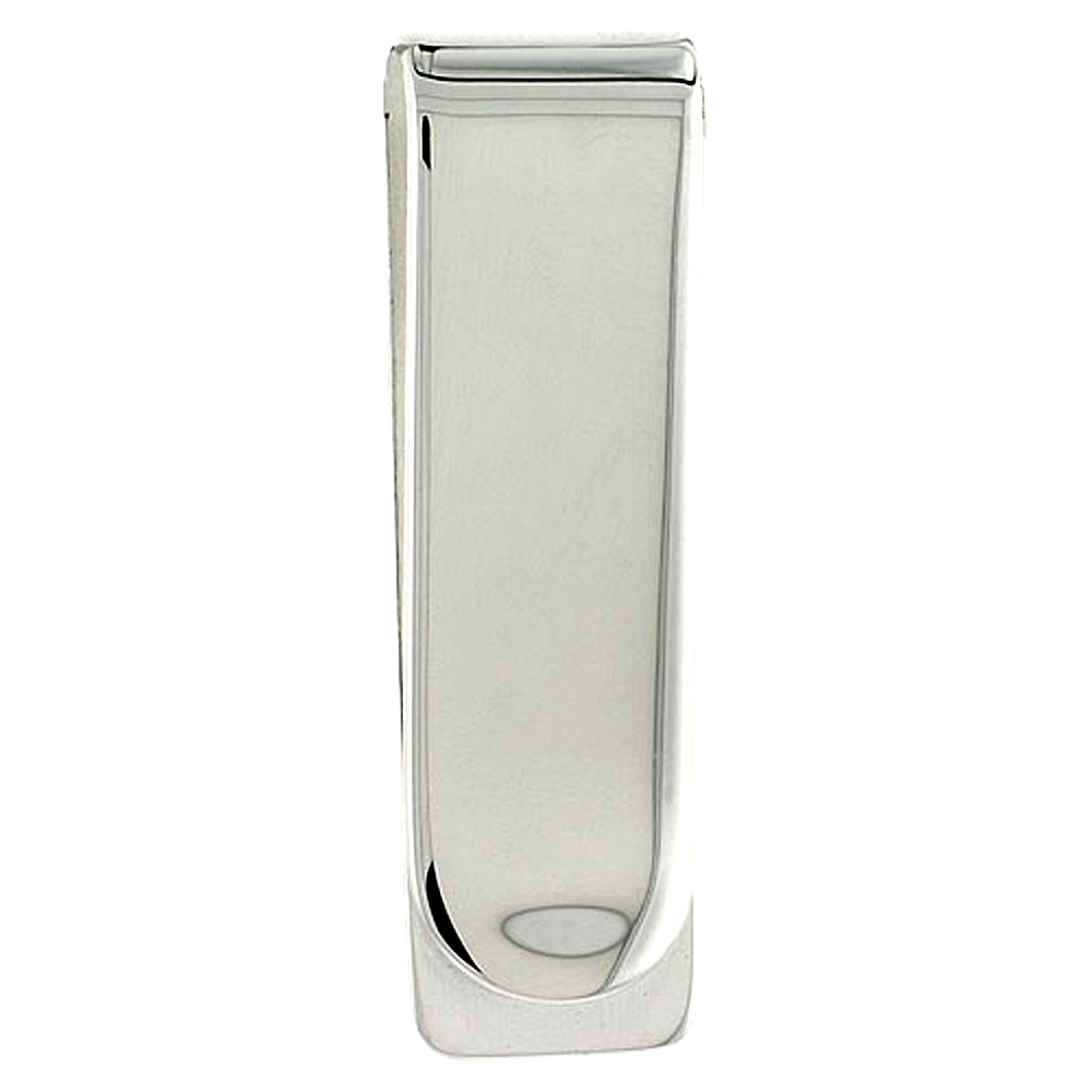 Sterling Silver Money Clip Plain Narrow made in Italy, 5/8 X 2  inch
