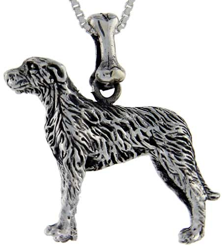 Sterling Silver Irish Wolfhound Dog Pendant ?