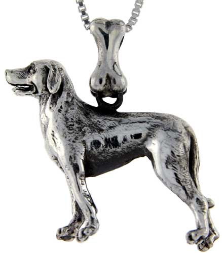 Sterling Silver Labrador Retriever Dog Pendant ?