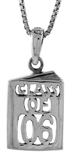 Sterling Silver Class of 2006 Pendant, 5/8 inch