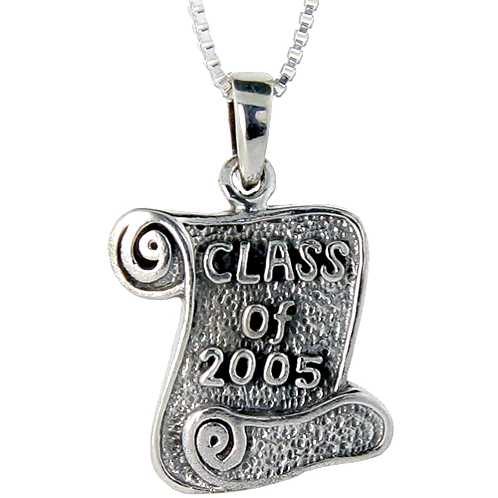 Sterling Silver Class of 2006 Pendant, 3/4 inch