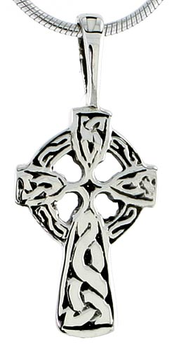 Sterling Silver Celtic Cross Charm, 1 inch