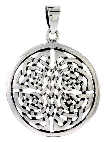 Sterling Silver Celtic Knot Charm, 1 1/4 inch