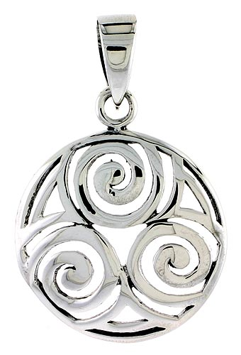 Sterling Silver Celtic Knot Charm, 1 inch