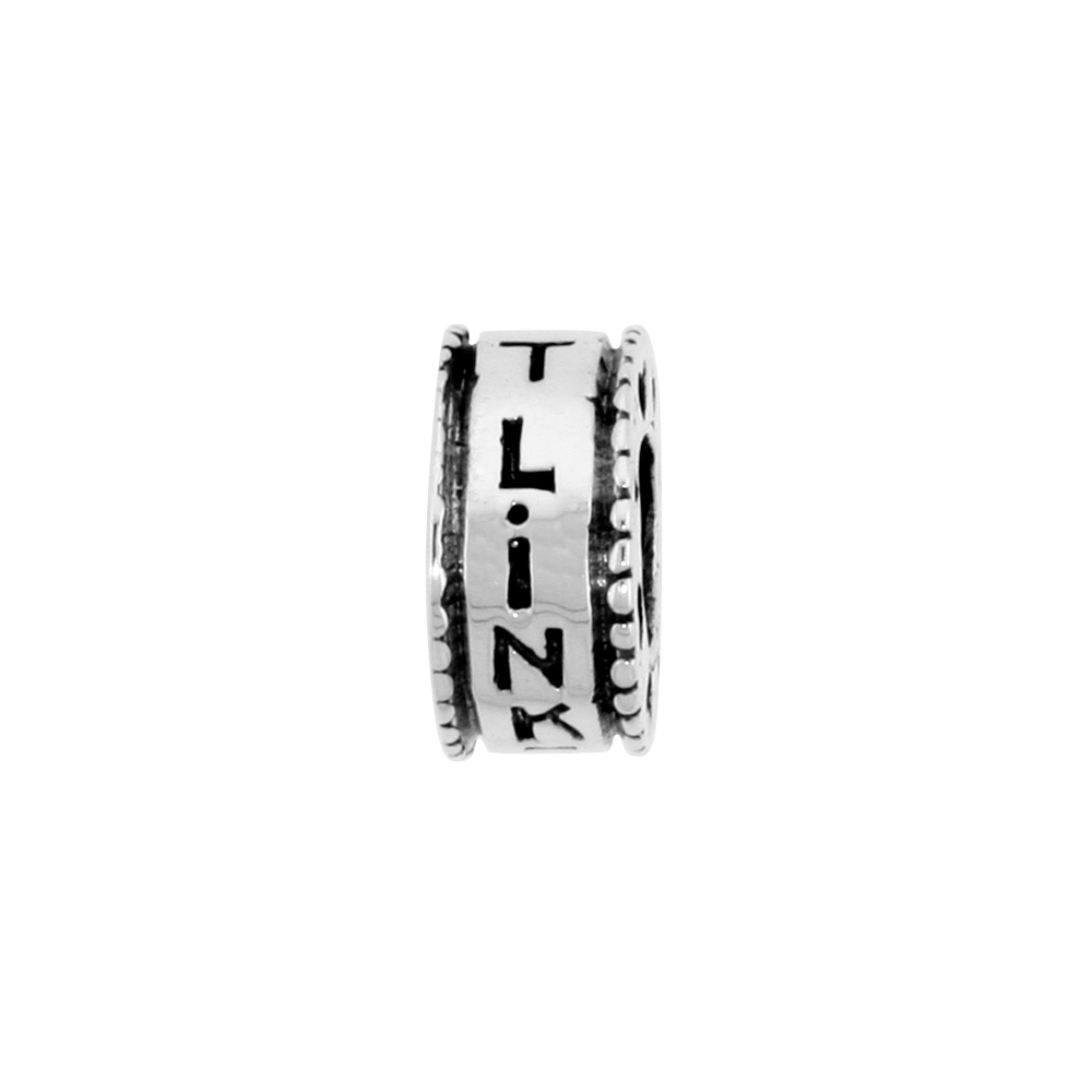"Sterling Silver "" Link It "" Bead Charm for most Charm Bracelets"
